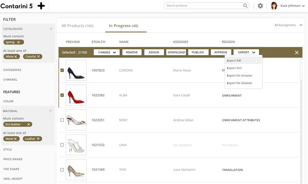 Catalogo di prodotti